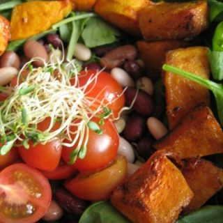 Mixed Bean & Roasted Butternut Squash Salad