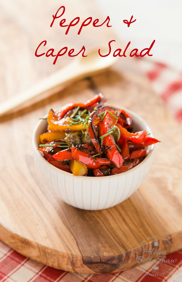 This 5 ingredient pepper and caper salad is delicious, easy to make and adaptable.
