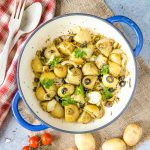 Roasted New Potatoes with Capers & Olives {Vegan & Gluten Free}