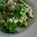 Buckwheat and Rice Risotto with Spring Greens and Leek