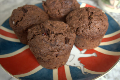 Double Chocolate Cranberry and Orange Muffins 2