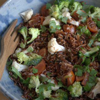 Red Rice and Italianesque Vegetable Salad