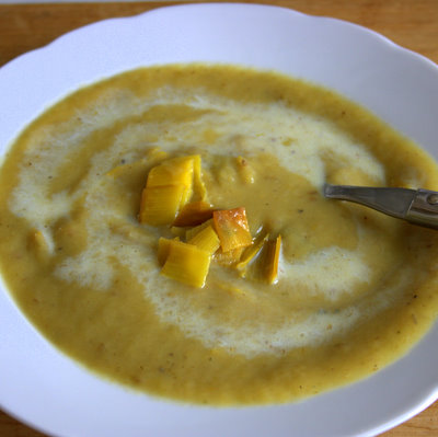 Roasted Leek and potato soup Vichyssoise