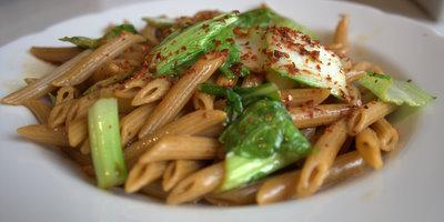 Asian Pasta tamari olive oil