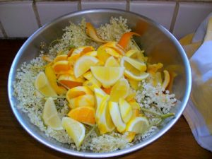 Elderflower Cordial ready to steep
