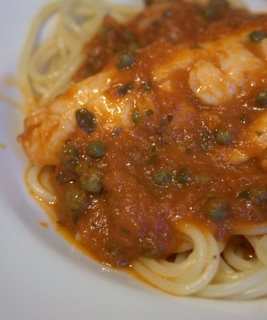 Speedy Tomato Spaghetti with Capers & Haddock