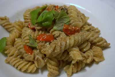 four seed tapenade pasta