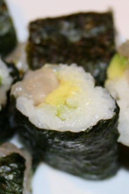Arctic Char and Avocado Sushi