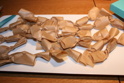 Maple Taffy - taffy needs eating the day it is made so I had to make room for several pieces!