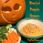 Roasted Pumpkin Hummus - perfect for Halloween