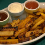 Recipe: Sticky Mustardy Swede Chips