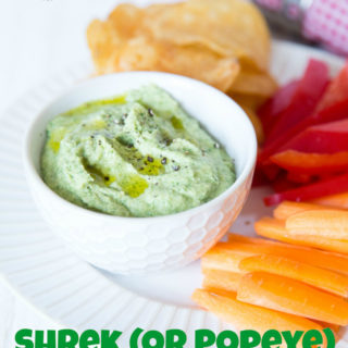 Add a large handful of spinach to a classic hummus recipe for an easy way to extra veg!