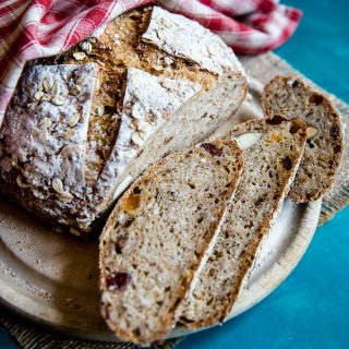 A delicious loaf of muesli sourdough bread