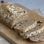 Muesli sourdough loaf sliced
