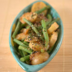 Miso potato salad with green beans and furikake
