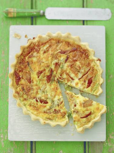 "Smoked Mackerel, Saffron and Davidstow ""Crackler"" Quiche"