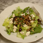 Blueberry, Avocado and Goats Cheese Salad
