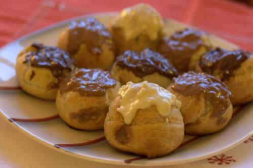 Toblerone Choux buns