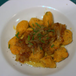 Recipe: Butternut Squash Gnocchi with Harissa Onions