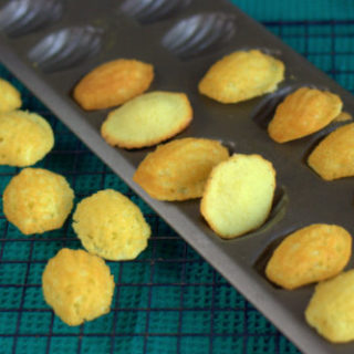 Mini Madeleines in tin