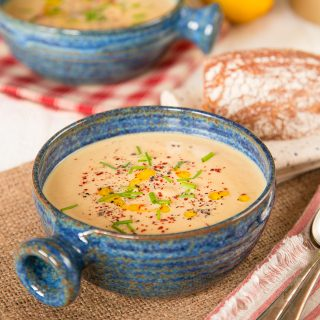 Butternut Squash, Tahini & Lemon Soup