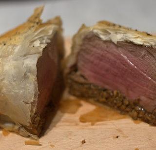 Recipe: Asian Beef Wellington with Maple Cumin Mash
