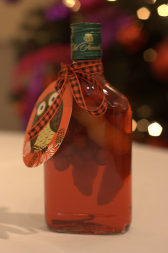 Christmas cranberry and orange vodka