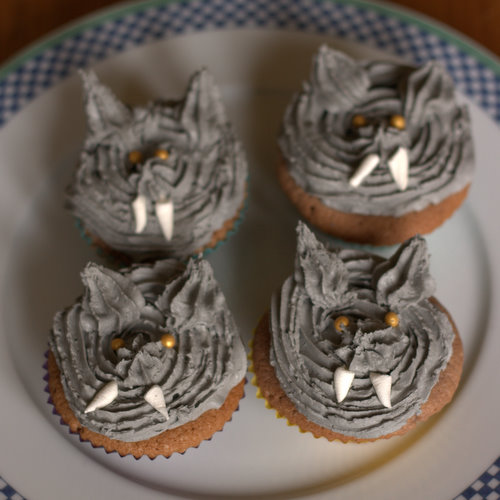 Grey Wolf Cupcakes