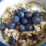 Bircher Muesli with blueberries