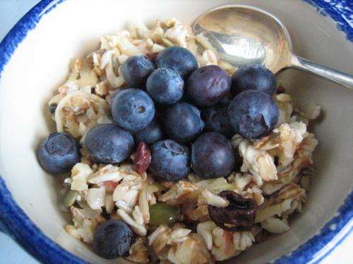 Bircher Muesli with blueberries