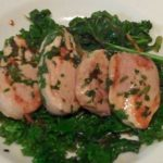 Zesy Coriander Pork with Stirfried Kale