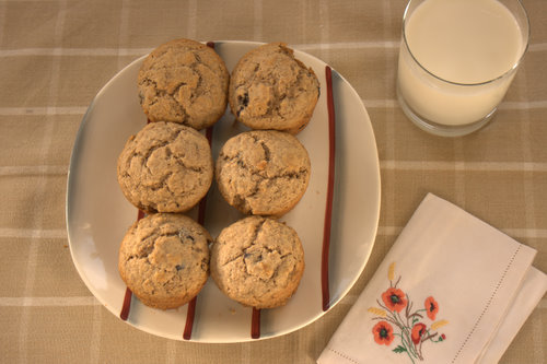 Wheat biscuit and blueberry muffins