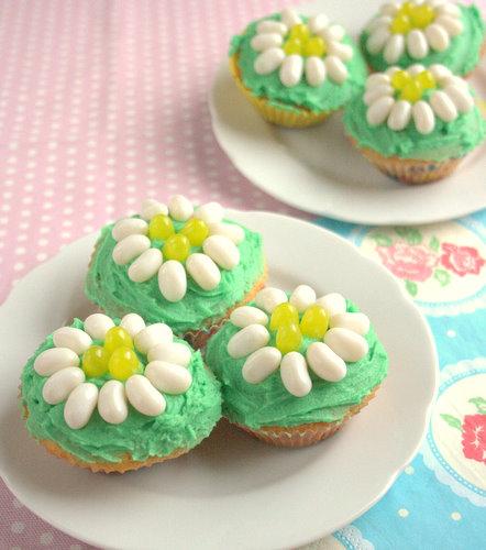 Jelly Belly Mothering Sunday Daisy Cupcakes
