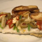 Baked Cod with Antipasti