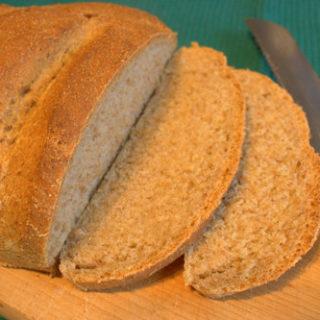 Rye loaf sliced
