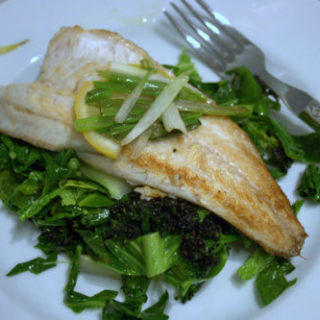 Sea Bass on Asian Greens