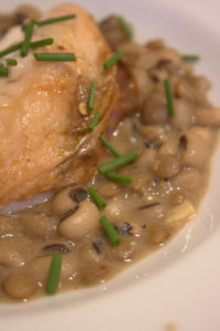 Harissa Roast Chicken with beans and lentils