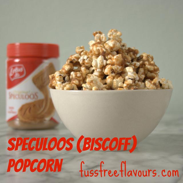 Speculoos or Biscoff Spread Popcorn Vegan and Delicious