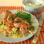 Recipe: Turkey Koftes with Cous Cous Salad & Tzatziki