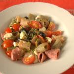 Greek salad pasta