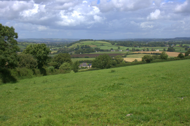 View from Pipers Farm, Devon
