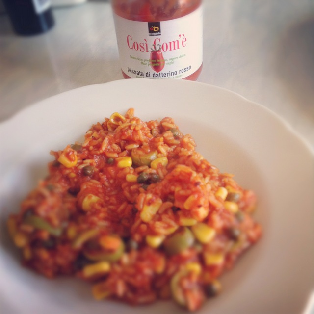Rice with cosi come tomatoes