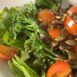 Tenderstem Broccoli Salad with semi confit tomatoes