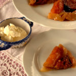 Fig and apple tart tartin