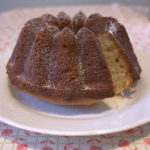 Greek Yoghurt Bundt Cake sliced