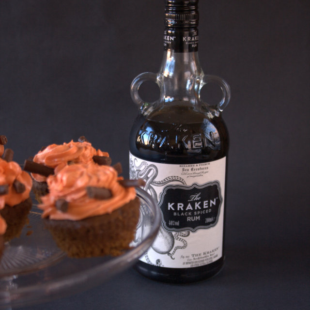 Bonfire cupcakes with Kraken Spiced Rum