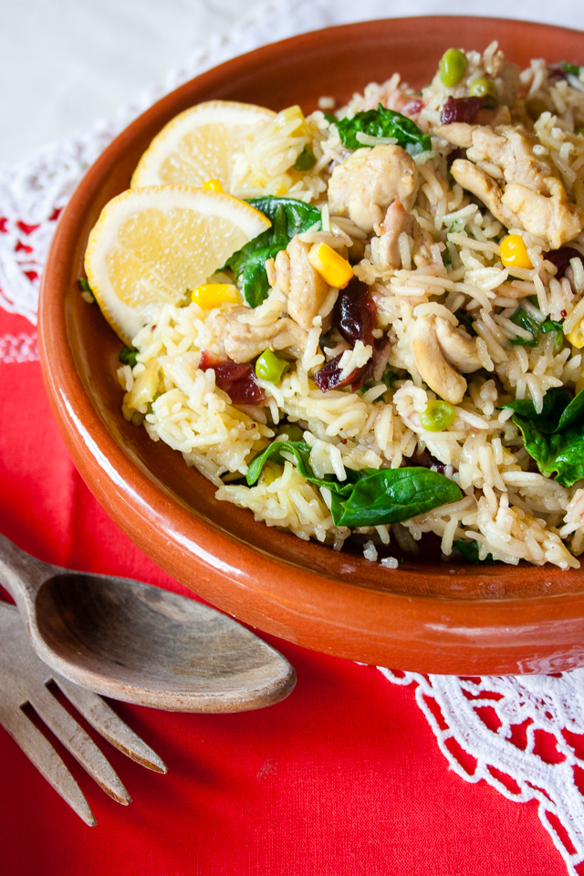This easy recipe for a fruity turkey biryani is a quick, quick easy and delicious one pot meal for all the family to enjoy after Christmas or Thanksgiving to use up the leftover roast turkey