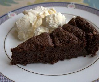 Flourless Chocolate Valentino Cake