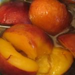 Hot Peaches in Butterscotch Sauce