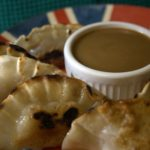 Apple & Blueberry Gyoza with a Hot Peanut Butter Sauce